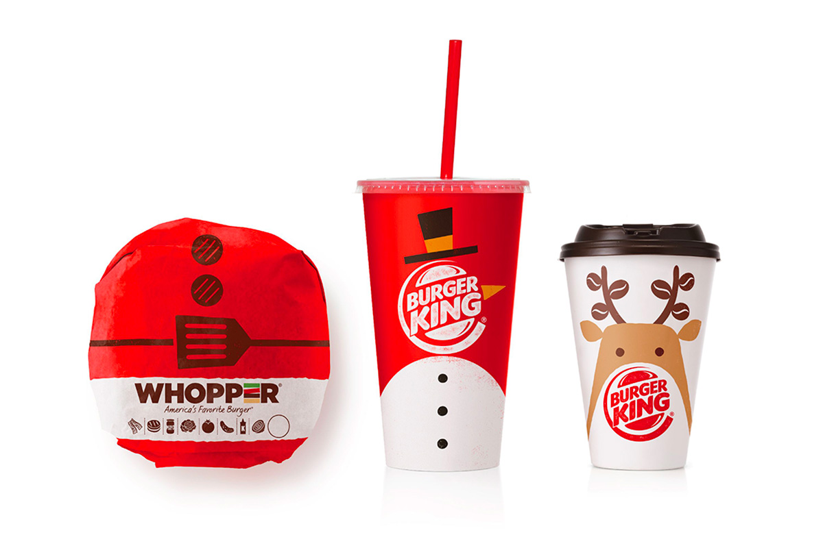 burger king christmas packaging